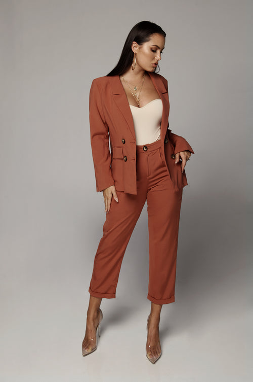 Terra Cotta Oversized Blazer Set
