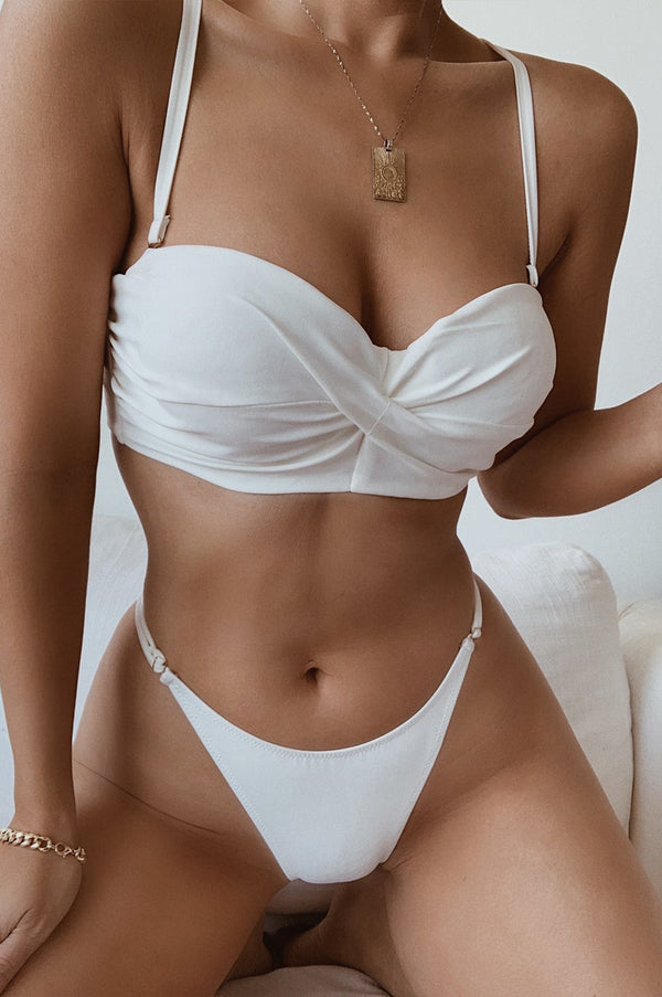 WHITE DALI TWISTED BIKINI SET