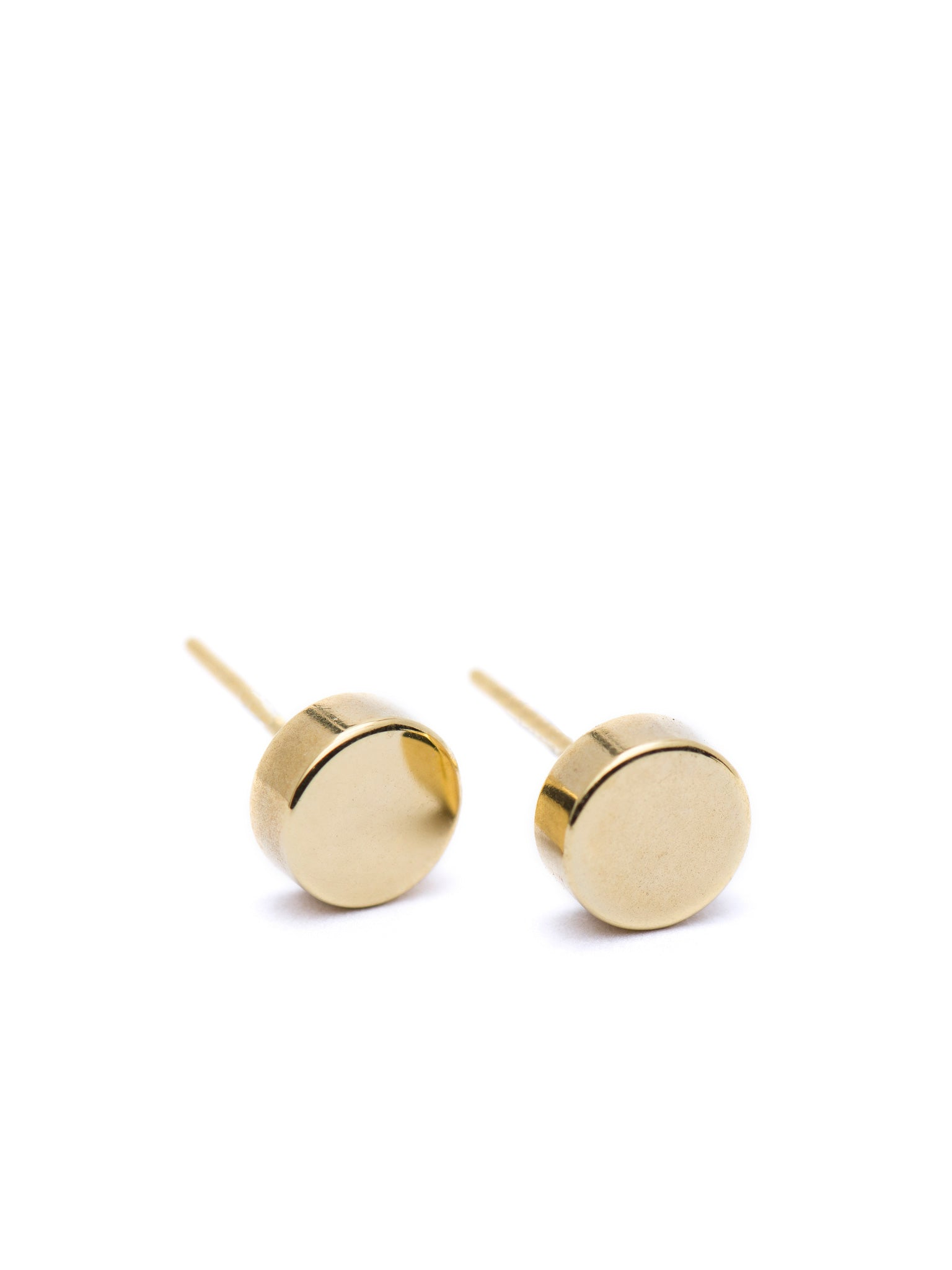 CIRCLE LINES - Small disk earrings