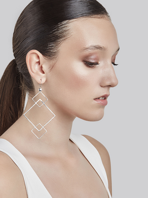 QUADRATIC - Hook earrings