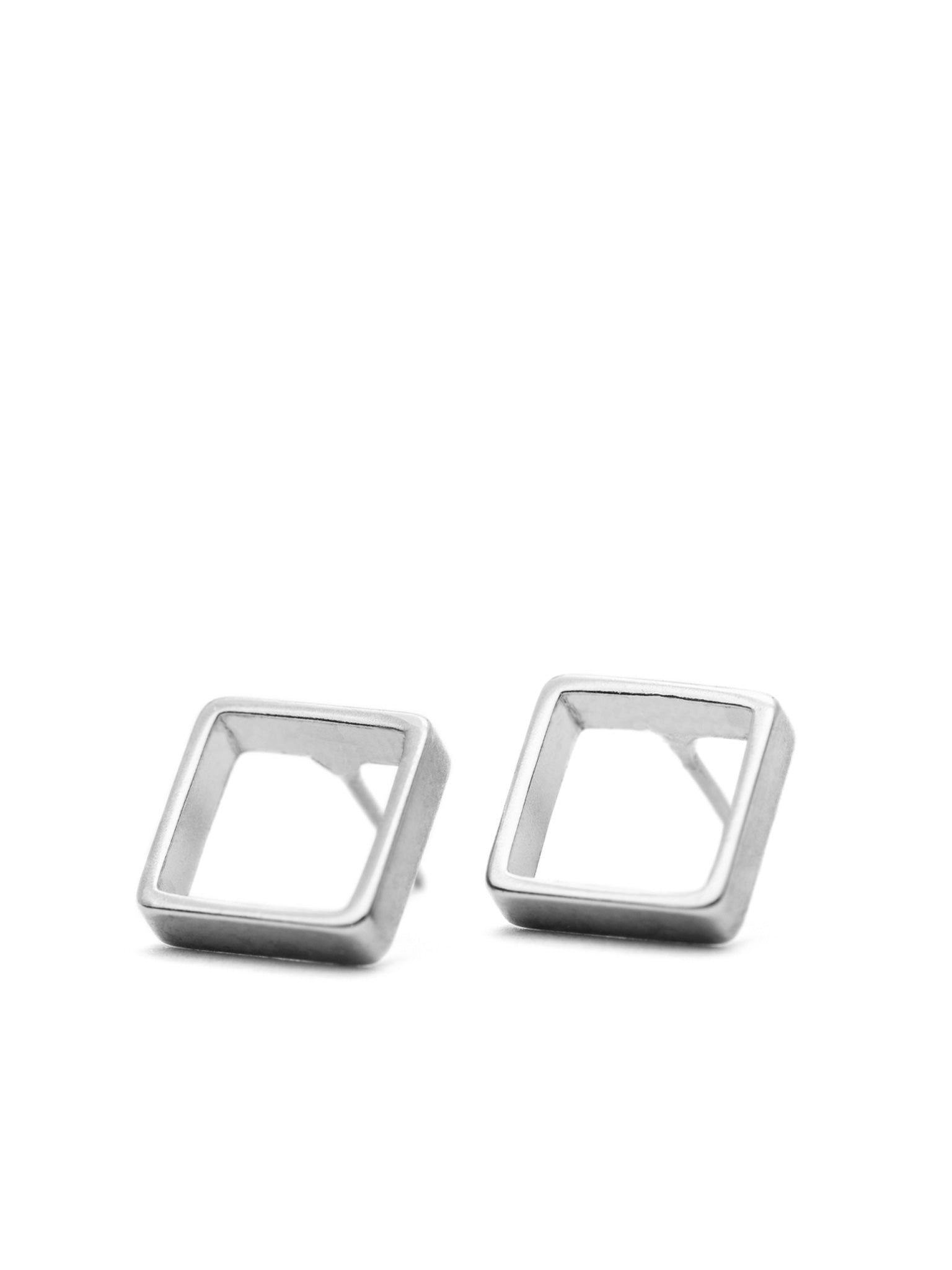 QUADRATIC - Small square earrings