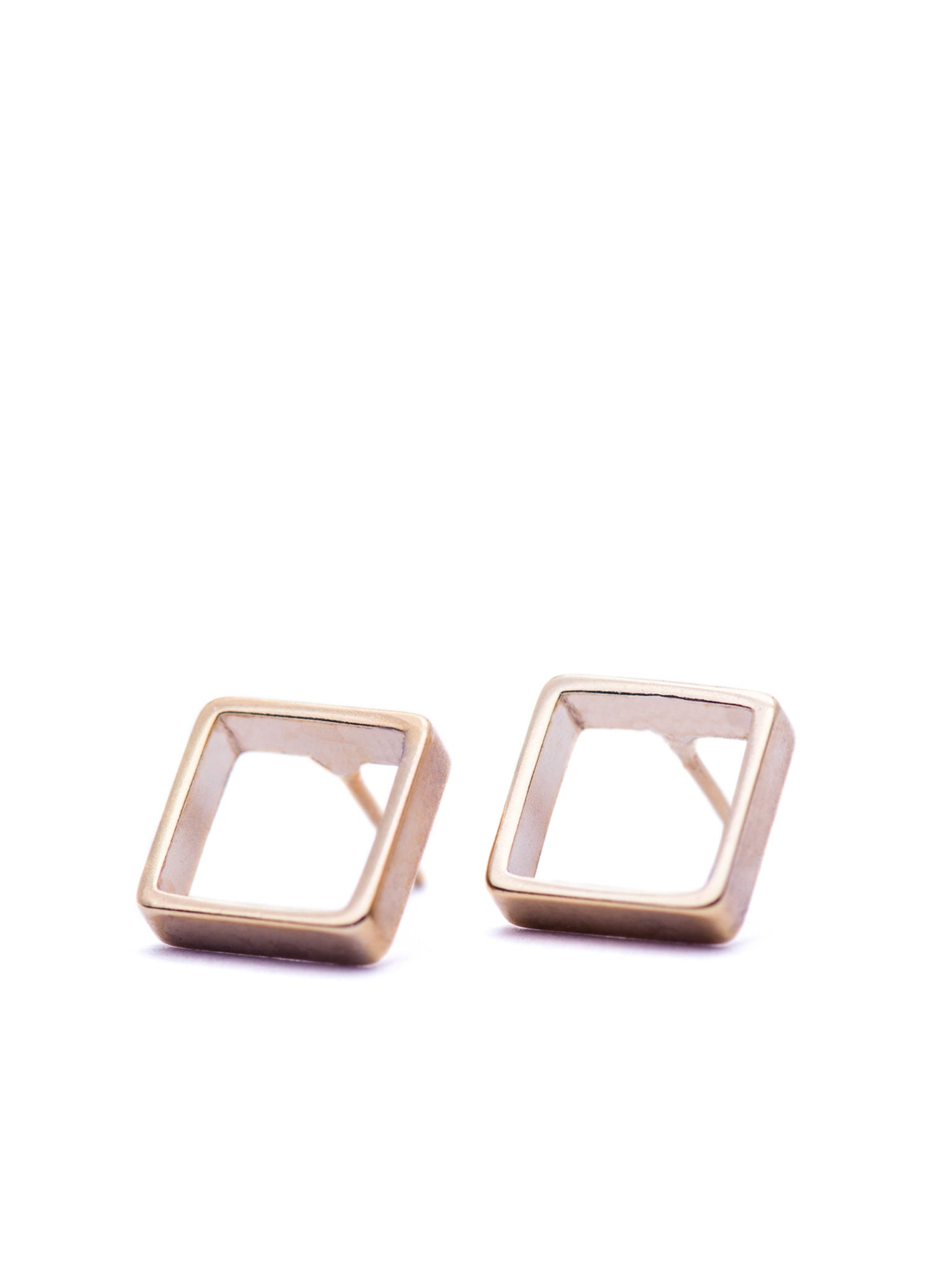 Rosé Small square earrings