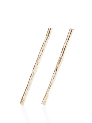 CLEAN LANES - Hammered stud stick earrings M