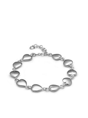 CIRCLE LINES - Silver heart bracelet