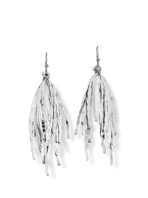 ECHO CHIC - Hammered grass earrings