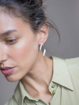 PURE GEOMETRY - Rombus earring