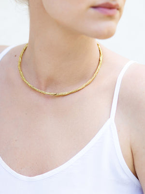 Archaic solid necklace