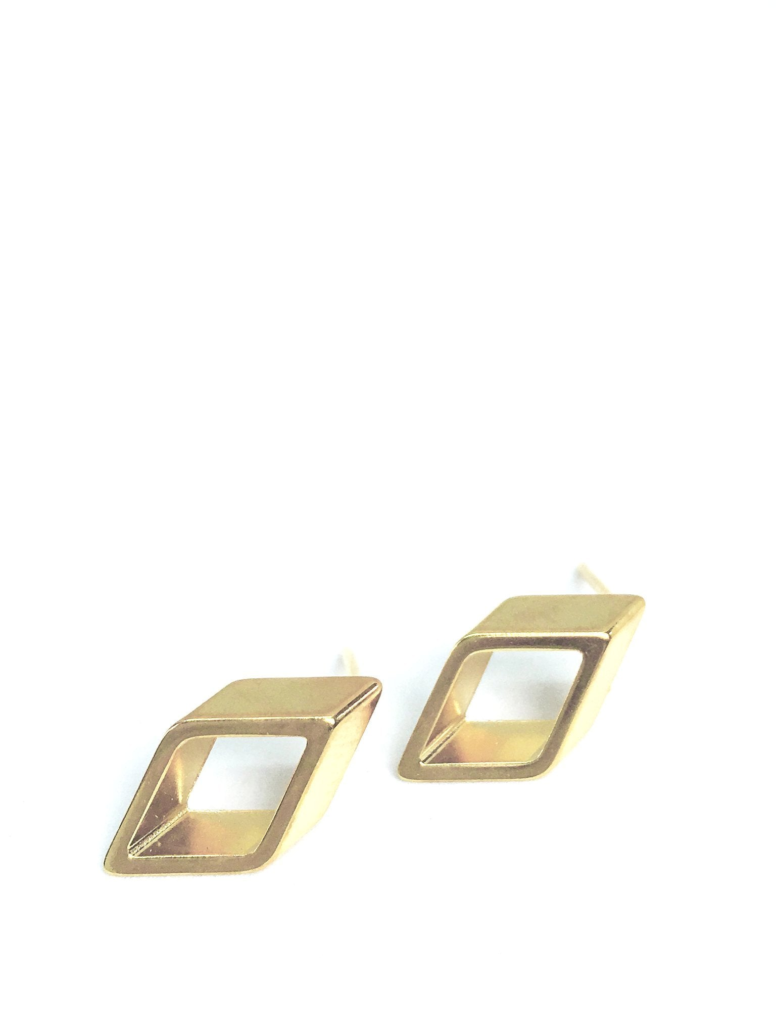 PURE GEOMETRY - Mini rhombus stud earrings