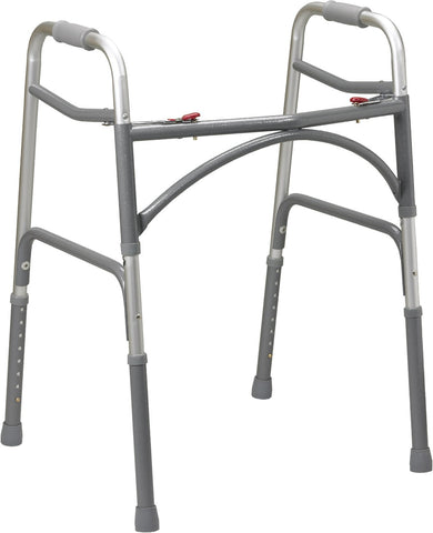 Bariatric Two-Button Folding Walker-Low Height