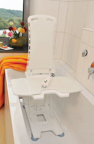 Bellavita Auto Bath Tub Chair Seat Lift White