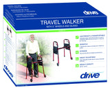 "Travel Folding Walker with 5"" Wheels"