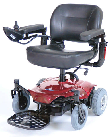 Cobalt Travel Power Wheelchair, Red