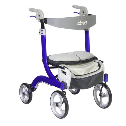 Nitro DLX Euro Style Walker Rollator, Sleek Blue