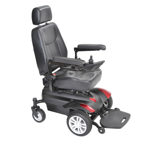 "Titan X23 Front Wheel Power Wheelchair, Full Back Captain's Seat, 18"" x 16"""