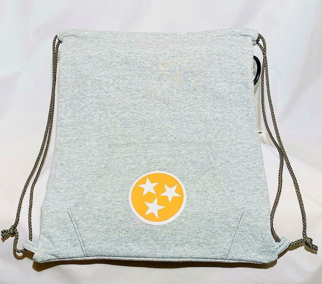 Tri-Star Sweatshirt Backpack in Grey