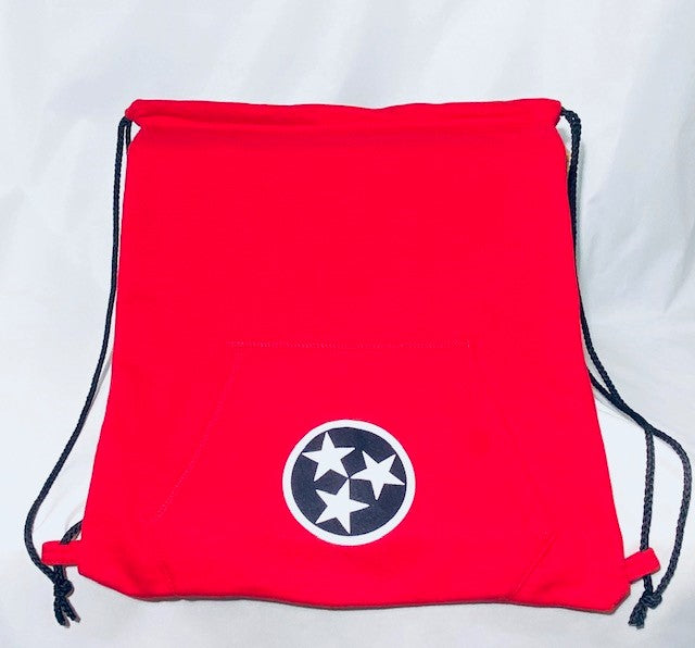 Tri-Star Sweatshirt backpack in Red