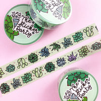 Succulents Silver Foiled Washi Tape
