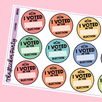 I Voted Planner Stickers Election Planner Stickers