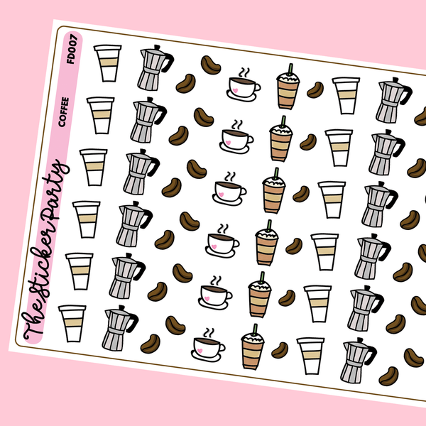 Coffee Planner Stickers | Coffee Mug Stickers, Frappuccino Stickers