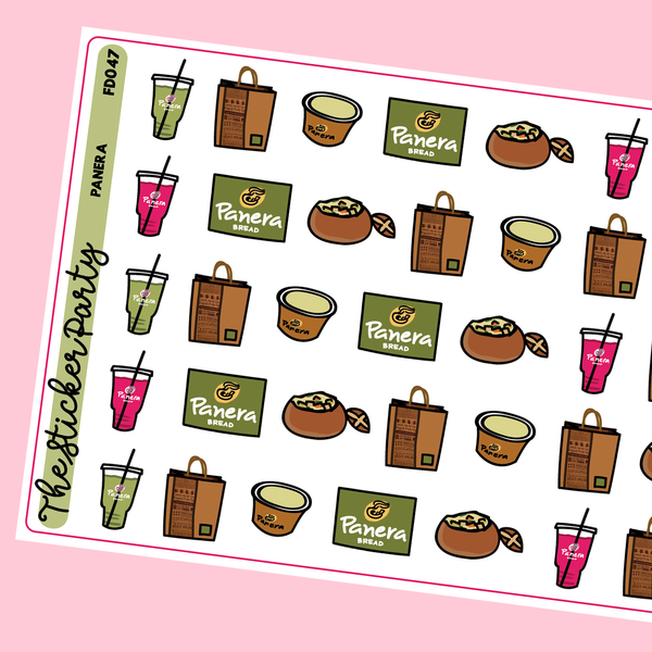 Panera Bread Planner Stickers