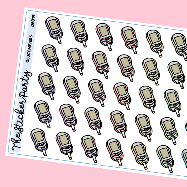 Glucometer Planner Stickers Diabetes Blood Sugar Stickers