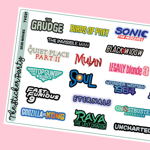 2020 Movies Planner Stickers