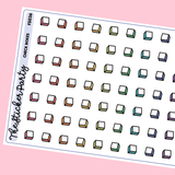Small Check Boxes Planner Stickers