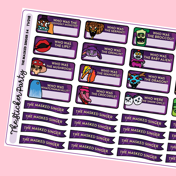 The Masked Singer Planner Stickers Season 4