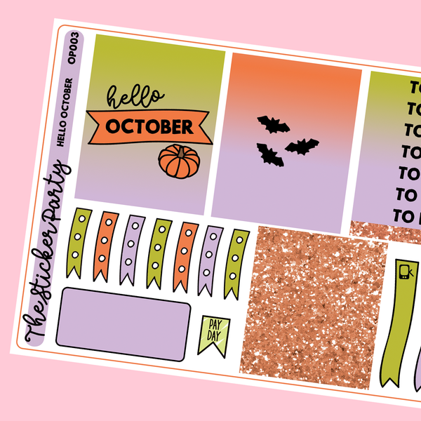 Hello October One-Page Kit in Standard Vertical Sizing