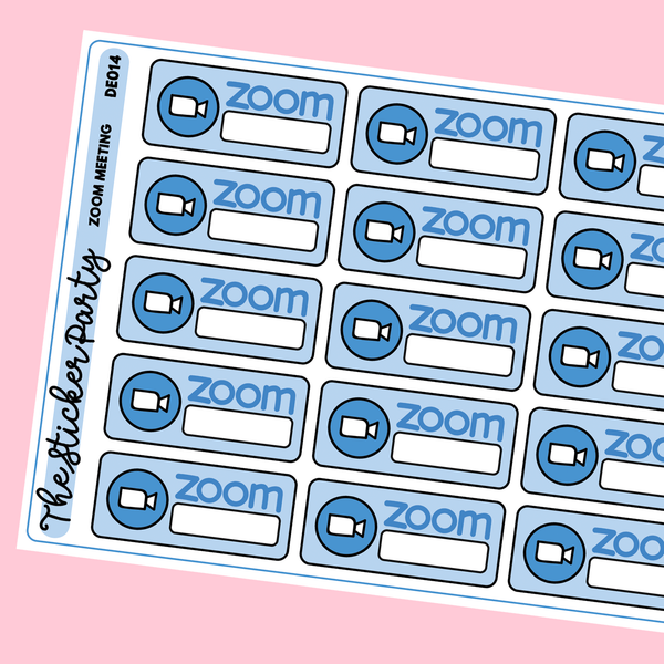Zoom Meeting Planner Stickers