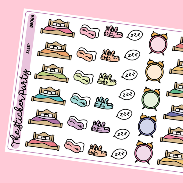 Sleep Planner Stickers | Eye Masks Alarm Clocks