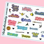Classic Disney Movie Planner Stickers Disney Planner Stickers