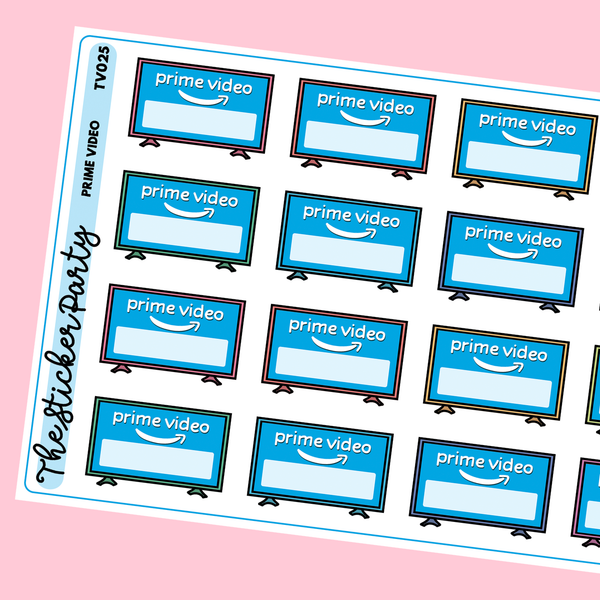 Prime Video Planner Stickers Amazon Prime Video
