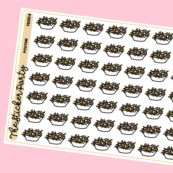 Poutine Planner Stickers