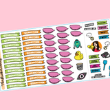 Big Brother US Play-Along Kit TV Show Planner Sticker Flags Kit