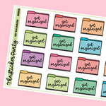 Get Organized Organization File Folders Planner Stickers