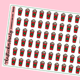 Starbucks Red Cups Planner Stickers