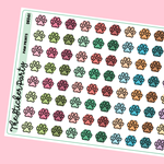 Paw Print Pet Planner Stickers