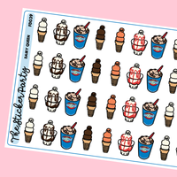 Dairy Queen Planner Stickers Blizzard Planner Stickers