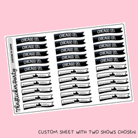 READ DESCRIPTION! Custom TV Show Flag Stickers