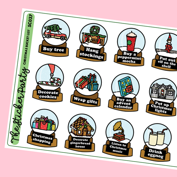 Christmas Bucket List Planner Stickers