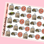 Chipotle Planner Stickers | Chipotle Burritos Mexican Food
