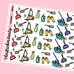 Cleaning Planner Stickers | Vacuum Mopping Deep Clean