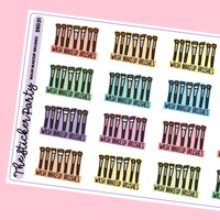Wash Makeup Brushes Planner Stickers