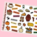 Fall Bucket List Planner Stickers