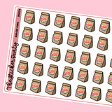 Burger King Planner Stickers