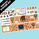 PRINTABLE New Year 2021 Sticker Kit in Standard Vertical Sizing