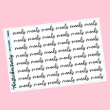 Meals Planner Stickers Meals Script Stickers | Black & Colorful Options