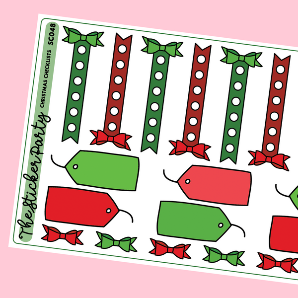 Christmas Checklist Stickers Christmas Functional