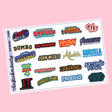 2019 Movies Planner Stickers